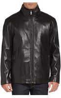 Andrew Marc Fur Lined Leather Jacket - Lyst