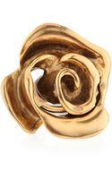 Oscar de la Renta Golden Rose Ring - Lyst