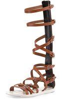 Balenciaga Buckle-strap Gladiator Sandal - Lyst