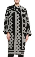 Burberry Prorsum Doublebreasted Printed Coat - Lyst