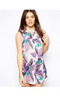 Insight Jungle Print Beach Dress - Lyst