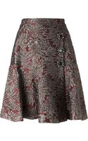 Dolce & Gabbana Embroidered Floral Skirt - Lyst