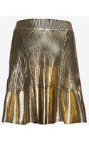 Ohne Titel Metallic Foil Knit Pleated Mini Skirt - Lyst