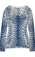 Balmain Leopardprint Wool Sweater - Lyst