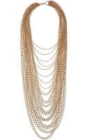 Topshop Mega Chain Multirow Necklace - Lyst