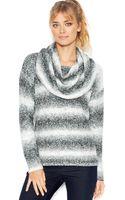 Kensie Long-sleeve Cowl-neck Gradient-knit Sweater - Lyst