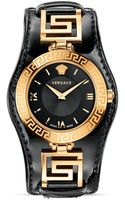 Versace Signature Rose Gold Black Dial Watch 35mm - Lyst
