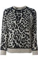 Iro Leopard Jacquard Sweater - Lyst