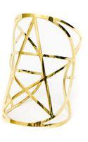 Pamela Love Mini Pentagram Cuff in Brass - Lyst
