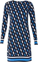 MICHAEL Michael Kors Long Sleeve Printed Dress - Lyst