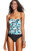Inc International Concepts Bandeau Printed One-piece Swimsuit - Lyst