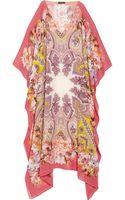 Etro Printed Silk-Chiffon Kaftan - Lyst