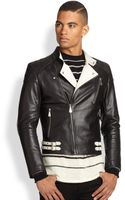 McQ by Alexander McQueen Bicolor Motorcycle Jacket - Lyst