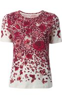 Tory Burch Floral Print Tshirt - Lyst