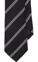 Ralph Lauren Black Label Mayfair-stripe Jacquard Neck Tie - Lyst