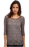 DKNY Novelty Washed Lace Top - Lyst