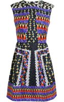 Peter Pilotto Abstract Silk Sleeveless Dress - Lyst