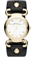 Marc By Marc Jacobs Molly Black Leather Ladies Watch - Lyst
