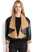Ralph Lauren Black Label Leather Suede Nichol Jacket - Lyst