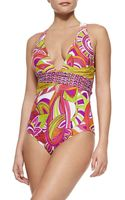 Trina Turk Amazonia Printed One-piece Swimsuit - Lyst