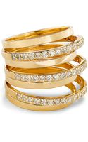 Lana Jewelry Fatale Gold Crown Ring with Diamonds - Lyst