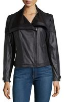 Catherine Catherine Malandrino Maurice Faux-leather Moto Jacket W Zip Pockets - Lyst