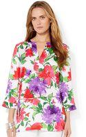 Lauren by Ralph Lauren Petite Belted Floral-Print Tunic - Lyst