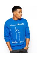 Asos Sweatshirt with New York Print - Lyst