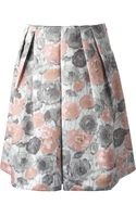 Erika Cavallini Semi Couture Rose Print Midi Skirt - Lyst