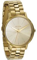 Nixon Kensington Gold Watch - Lyst