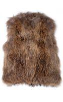 Yves Salomon Knitted Fur Vest - Lyst