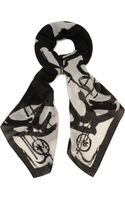 McQ by Alexander McQueen Dripping Swallow Print Scarf - Lyst