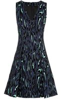 Proenza Schouler Flock Print V-neck Dress - Lyst