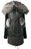 Mr & Mrs Furs Fur Collar Coat - Lyst