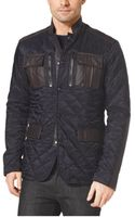 Michael Kors Leathertrimmed Quilted Jacket - Lyst