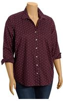 Old Navy Plus Patterned Button Front Shirts - Lyst