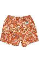Menlook Label Jake Orange Floral Swimming Shorts - Lyst