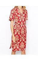 Ganni Tapestry Print Tea Dress - Lyst