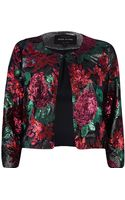 River Island Red Floral Sequin Embellished Jacket - Lyst