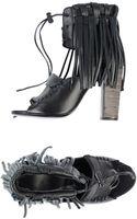 Diesel Black Gold Highheeled Sandals - Lyst