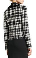 St. John Plaid Knit Tailored Jacket - Lyst