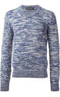 Dolce & Gabbana Slub Knit Sweater - Lyst