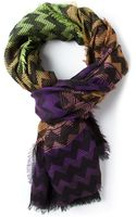 M Missoni Patterned Scarf - Lyst