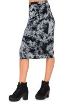 Missguided Matea Tie Dye Midi Skirt in Grey - Lyst