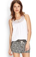 Forever 21 Crocheted Racerback Cotton Tank - Lyst