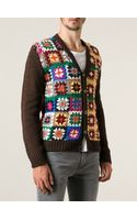 Etro Crocheted Cardigan - Lyst