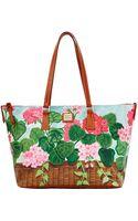 Dooney & Bourke Geranium Basket Coated Cotton Shopper Tote Bag - Lyst