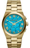 Michael Kors Goldtone Channing Watch - Lyst