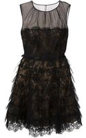 Oscar de la Renta Lace Ruffled Dress - Lyst