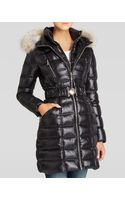 Dawn Levy Dl2 by Coat - Alicia Quilted Belted with Coyote Fur Trim Hood - Lyst